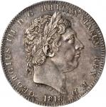 GREAT BRITAIN. Crown, 1818. PCGS AU-50 Secure Holder.