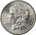 1893-CC Morgan Silver Dollar. MS-62 (PCGS). Gold Shield Holder.