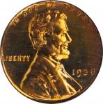 1938 Lincoln Cent. Proof-65 RD (PCGS). OGH.
