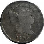 1796 Liberty Cap Half Cent. C-2. Rarity-4+. With Pole. VG-8 (PCGS). CAC.