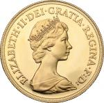 World Coins, Great Britain.  Elizabeth II (1952 -). 5 pounds 1980. Fr. 419. 35 mm.  近未流通