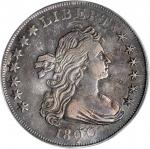 1800 Draped Bust Silver Dollar. BB-194, B-14a. Rarity-3. Dotted Date. EF-40 (PCGS). OGH.