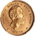 NORWAY. 10 Kroner, 1877. PCGS MS-64 Secure Holder.
