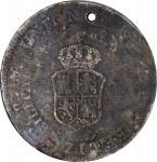 1828年菲律宾-秘鲁壹圆银币 NGC VF-Details PHILIPPINES. Philippines - Peru. 8 Reales, 1828. Ferdinand VII