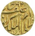 HYDERABAD: Afzal al-Dawla, 1857-1869, AV ¼ mohur (2.79g), Farkhunda Bunyad, AH1281, Y-9, EF, S.