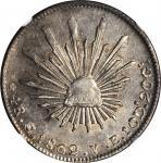 MEXICO. 4 Reales, 1862-Go YE. Guanajuato Mint. NGC AU-58.