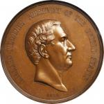 1850 Millard Fillmore Indian Peace Medal. Bronze. 76 mm. Julian IP-30. MS-64BN (NGC).