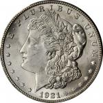 1921-S Morgan Silver Dollar. MS-66+ (PCGS).