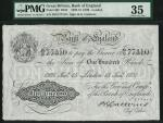 Bank of England, B.G. Catterns, £100, London 15 January 1931, serial number 39/O 77310, black and wh