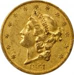 1861-O Liberty Head Double Eagle. Winter-1, the only known dies. AU-53 (PCGS). CAC.