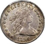 1796 Draped Bust Silver Dollar. BB-65, B-5. Rarity-4. Large Date, Small Letters. EF-45 (PCGS).