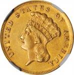 1868 Three-Dollar Gold Piece. AU-55 (NGC). CAC.