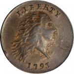 1793 Flowing Hair Cent. Chain Reverse. S-3. Rarity-3-. AMERICA, Without Periods. AU-55 (PCGS). CAC.
