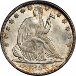 1854-O Liberty Seated Half Dollar. Arrows. WB-44. Rarity-3. MS-66 (PCGS).