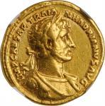 HADRIAN, A.D. 117-138. AV Aureus (7.13 gms), Rome Mint, A.D. 118. NGC VF, Strike: 5/5 Surface: 4/5.