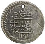 GIRAY KHANS: Shahin Giray, 1777-1783, AR 10 para (3.18g), Baghcha-Saray, AH1191 year 3, A-2114, Ret-