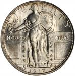 1917-D Standing Liberty Quarter. Type I. MS-65 FH (PCGS).