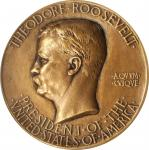 MCMV (1905) Theodore Roosevelt Inaugural Medal. Cast Bronze. 74 mm. By Augustus Saint-Gaudens. Baxte