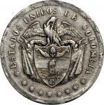 COLOMBIA. 1863 Peso. Popayán mint. Restrepo 316.1. EF-45 (PCGS).