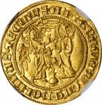 ITALY. Naples & Sicily. Salut dOr, ND (1285-1309). Carlo II dAngio. NGC MS-65.