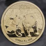 2010年熊猫纪念金币1/10盎司 完未流通