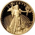 1991-P Quarter-Ounce Gold Eagle. Proof-69 Deep Cameo (PCGS).