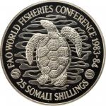 索马里1984年25 Shillings 加厚币 SOMALIA. 25 Shillings Piefort, 1984. NGC PROOF-68 ULTRA CAMEO.