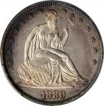 1880 Liberty Seated Half Dollar. WB-102. Type II Reverse. Proof. Unc Details--Streak Removed (PCGS).