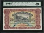 1952年有利银行100元,编号85387,PMG 30,中上位置有轻微修补,颜色深润,美品
