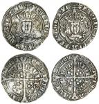 Henry VII (1485-1509), Groats (2), both type IIIC, 2.83g, m.m. inverted anchor/ lis issuant from ros