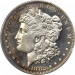 1882 Morgan Silver Dollar. Proof-64 Cameo (PCGS). CAC.