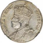 1936年新西兰1佛林银币。NEW ZEALAND. Florin, 1936. NGC AU-53.