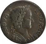 1787 Nova Eborac Copper. Breen-986, W-5755. Rarity-3. Medium Bust, Seated Figure Left. AU-50 (PCGS).