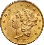 1873 Liberty Head Double Eagle. Open 3. MS-63 (PCGS). CAC.