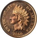 1866 Indian Cent. Proof-65 RD Cameo (PCGS).