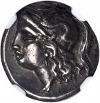 ITALY. Calabria. Tarentum. AR Drachm, ca. 3rd Century B.C.