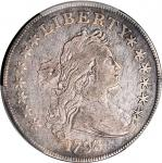 1798 Draped Bust Silver Dollar. Heraldic Eagle. BB-125, B-8. Rarity-2. Pointed 9, 4 Berries. VF Deta