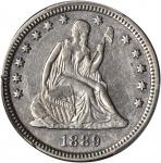 1889 Liberty Seated Quarter. Briggs 1-A. AU Details--Cleaned (PCGS).