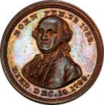 1850s General of the American Armies medalet. Musante GW-748, Baker-76A. Copper. MS-65 BN (PCGS).