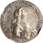 RUSSIA. Ruble, 1765-CNB RI. Catherine II (the Great) (1762-96). NGC AU-55.
