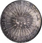 ARGENTINA. 8 Reales, 1833-RA P. NGC EF-45.