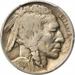 1918/7-D Buffalo Nickel. FS-101. VG-10 (PCGS).