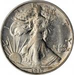 1917-S Walking Liberty Half Dollar. Reverse. MS-64 (PCGS). OGH.