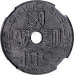 BELGIUM. 10 Centimes, 1946. NGC Unc Details--Environmental Damage.