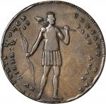 Undated (ca. 1795) Thomas Spence Standing Indian / End of Oppression Halfpenny Token. D&H Middlesex