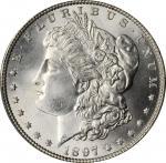 1897 Morgan Silver Dollar. MS-66+ (PCGS).