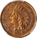 1877 Indian Cent. EF Details--Environmental Damage (PCGS).