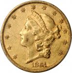 Lot of (3) 1861-S Liberty Head Double Eagles. AU Details (PCGS).