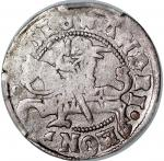 1495-1506年立陶宛1/2 Groat银币,无日期,PCGS XF45