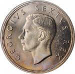SOUTH AFRICA. 5 Shillings, 1948. PCGS PROOFLIKE-67+ Gold Shield.